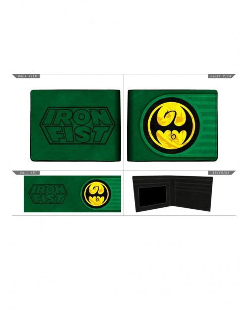 MARVEL COMICS - IRON FIST SYMBOL GREEN BI-FOLD WALLET