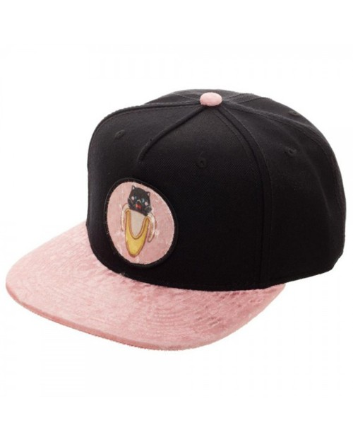 OFFICIAL BANANYA - PINK LOGO WITH PINK PLUSH VISOR SNAPBACK CAP