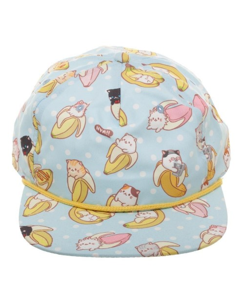 OFFICIAL BANANYA - ALL OVER RPINT LIGHT BLUE SNAPBACK CAP