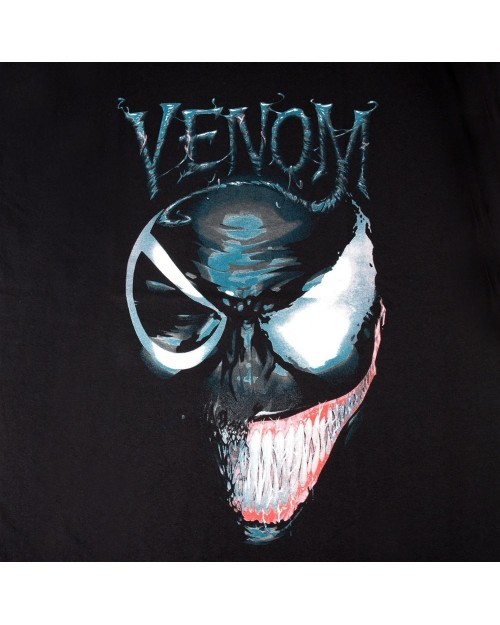OFFICIAL MARVEL COMICS - VENOM 2 FACES BLACK T-SHIRT