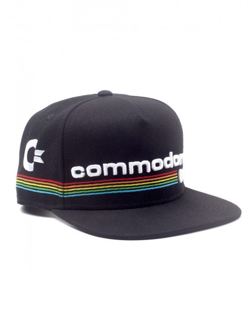 OFFICIAL COMMODORE 64 COLOURED LOGO BLACK SNAPBACK CAP