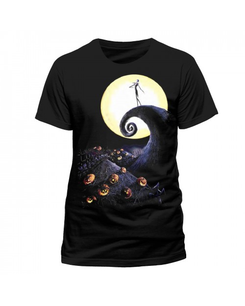 OFFICIAL DISNEY - THE NIGHTMARE BEFORE CHRISTMAS CEMETERY BLACK T-SHIRT