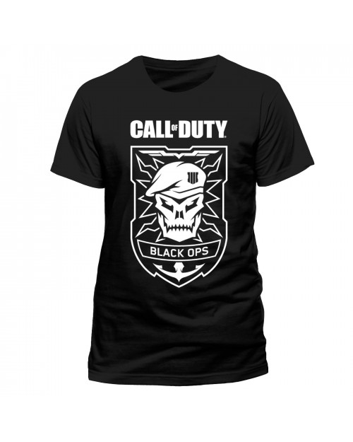 OFFICIAL CALL OF DUTY: BLACK OPS IIII (4) SKULL BLACK T-SHIRT