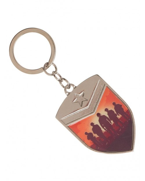 CALL OF DUTY WWII - SHIELD PRINTED METAL KEYRING
