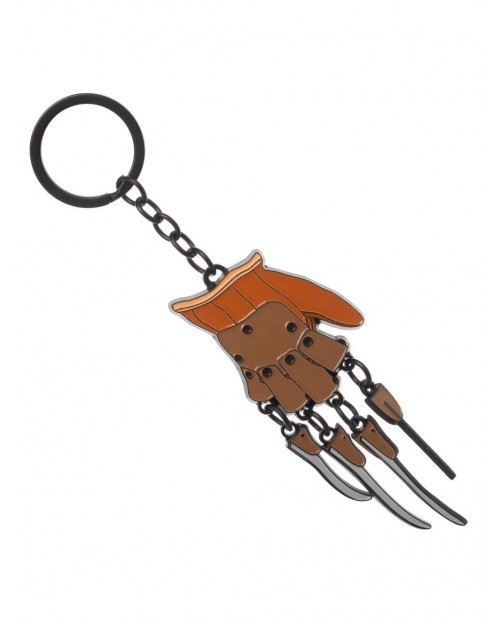 A NIGHTMARE ON ELM STREET FREDDY KRUEGER CLAW/ GLOVE METAL KEYRING