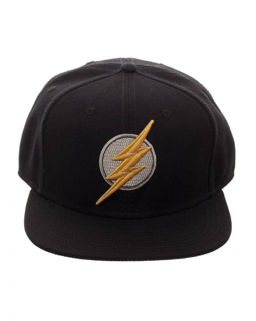 DC COMICS - JUSTICE LEAGUE THE FLASH SYMBOL BLACK SNAPBACK CAP