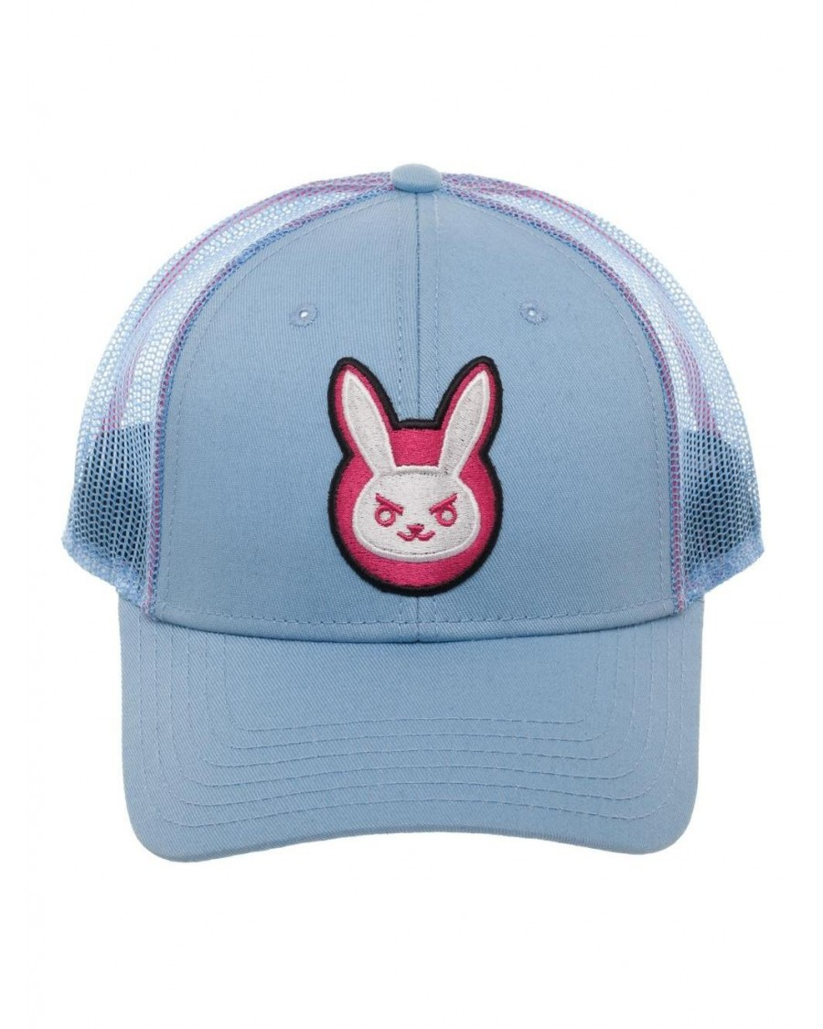 OFFICIAL OVERWATCH - D.VA BUNNY LIGHT BLUE TRUCKER BASEBALL CAP