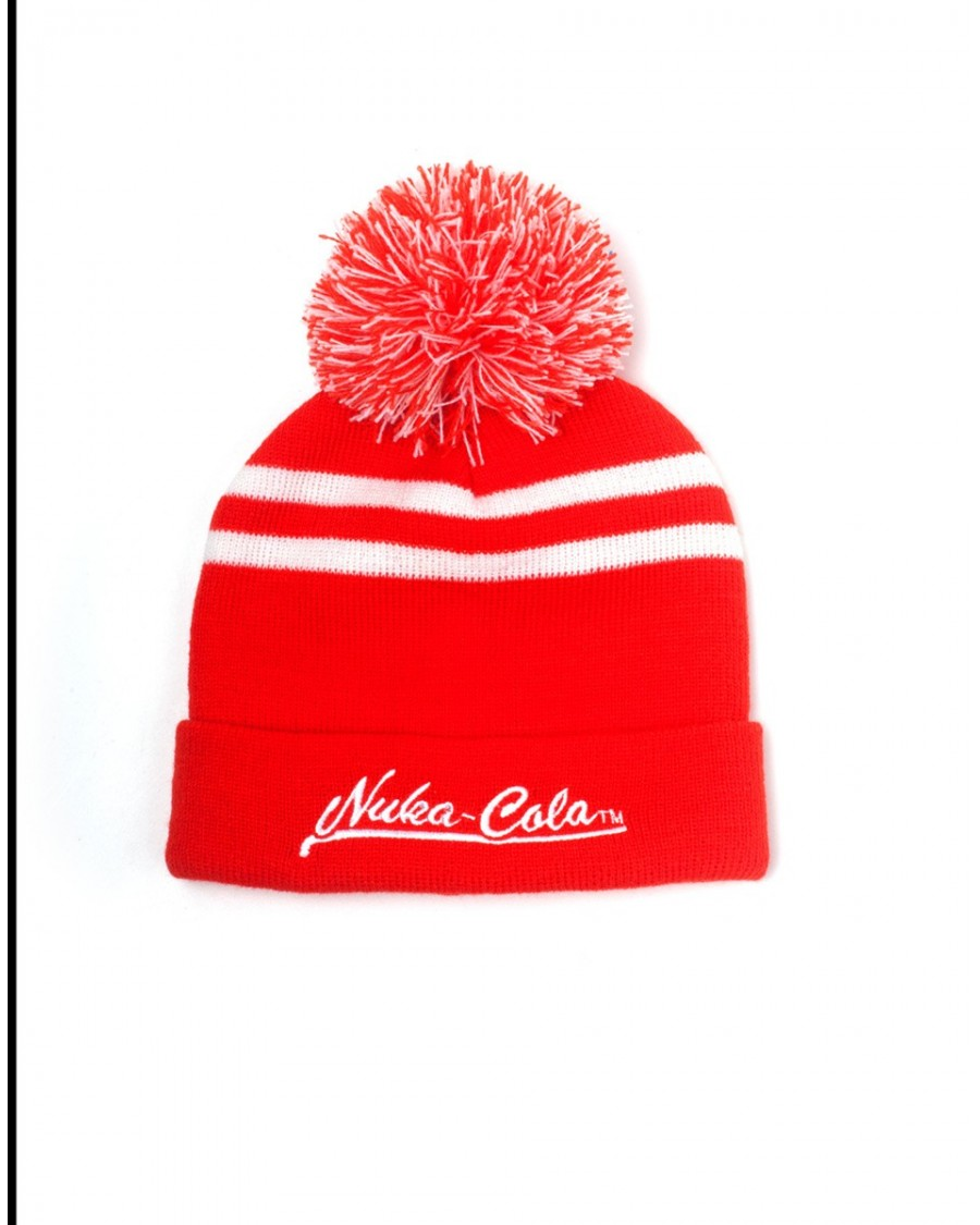 OFFICIAL FALLOUT 4 NUKA-COLA RED CUFFED BEANIE WITH POM