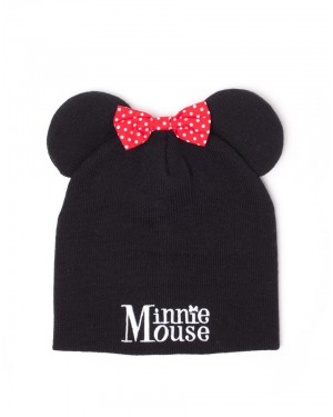 OFFICIAL DISNEY - MINNIE MOUSE EARS AND BOW COSTUME STYLED BEANIE
