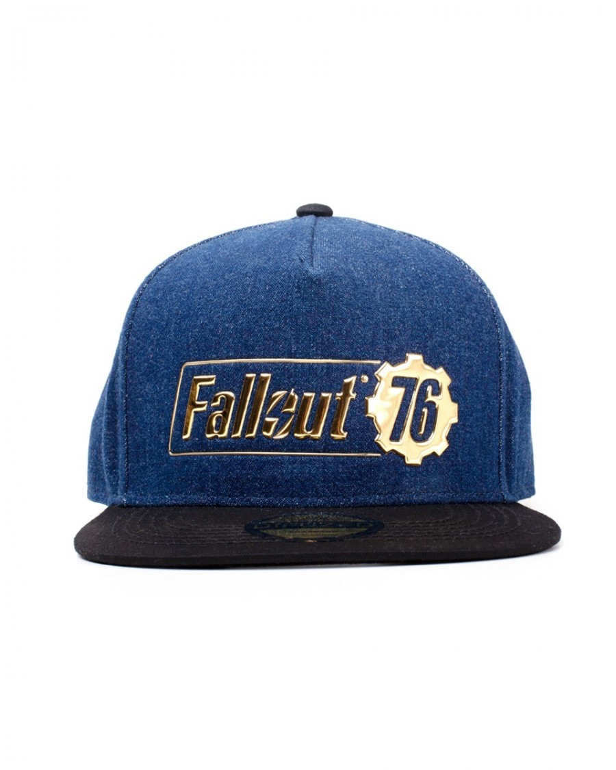 OFFICIAL FALLOUT 76 - METALIC LOGO DENIM STYLE SNAPBACK CAP