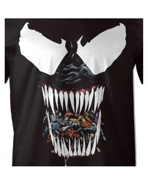 MARVEL COMICS - VENOM EATEN ENEMYS BLACK T-SHIRT