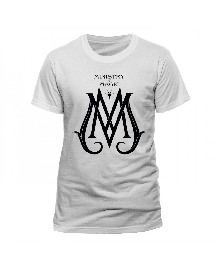 FANTASTIC BEASTS - CRIMES OF GRINDELWALD MINISTRY OF MAGIC LOGO WHITE T-SHIRT