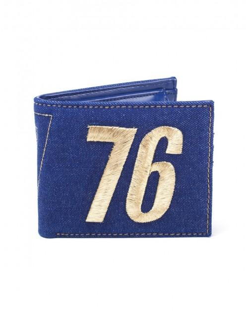 OFFICIAL BETHESDA - FALLOUT 76 - VAULT 76 VAULT TEC BLUE WALLET