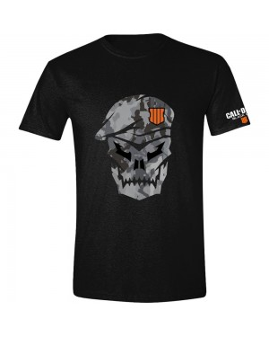 OFFICIAL CALL OF DUTY BLACK OPS IIII (4) SKULL CAMOUFLAGE LOGO T-SHIRT