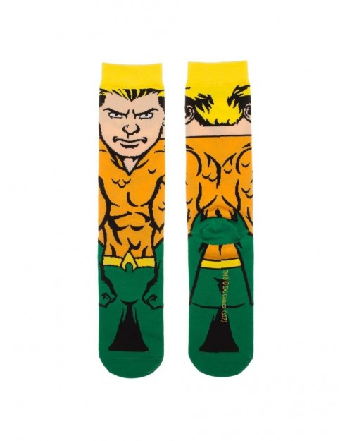 OFFICIAL DC COMICS - JUSTICE LEAGUE ALL OVER PRINT 6 PAIRS CREW SOCKS (CHARACTER COLLECTION)