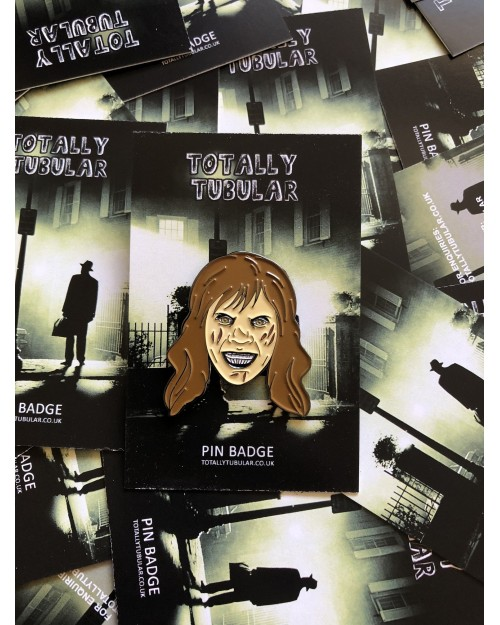 THE EXORCIST - REGAN ENAMEL METAL PIN BADGE BY TOTALLY TUBULAR