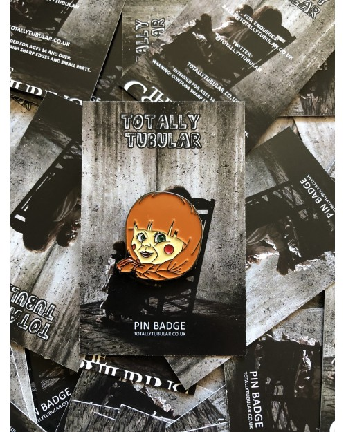 THE CONJURING - ANNABELLE ENAMEL METAL PIN BADGE BY TOTALLY TUBULAR