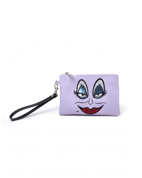 DISNEY THE LITTLE MERMAID - URSULA FACE POUCH PURSE/ WALLET