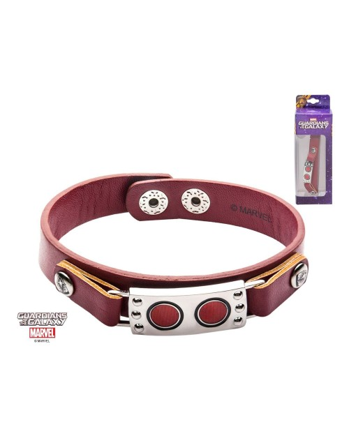 MARVEL COMICS - GUARDIANS OF THE GALAXY STAR LORD MASK LEATHER BRACELET