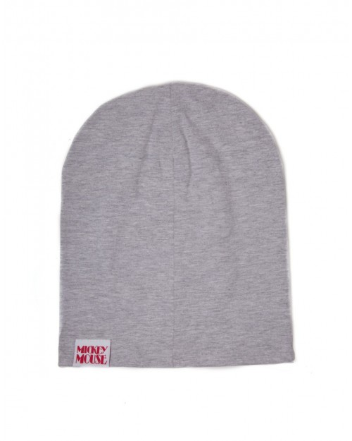OFFICIAL DISNEY - MICKEY MOUSE PRINTED GREY SUMMER BEANIE HAT