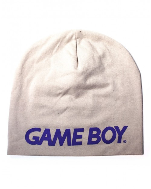 OFFICIAL NINTENDO - GAME BOY PURPLE TEXT LOGO GREY SUMMER BEANIE HAT