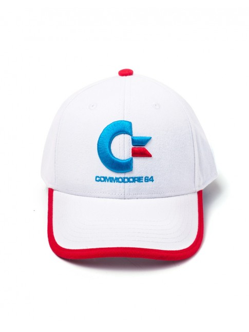 OFFICIAL COMMODORE 64 LOGO WHITE SNAPBACK BASEBALL CAP