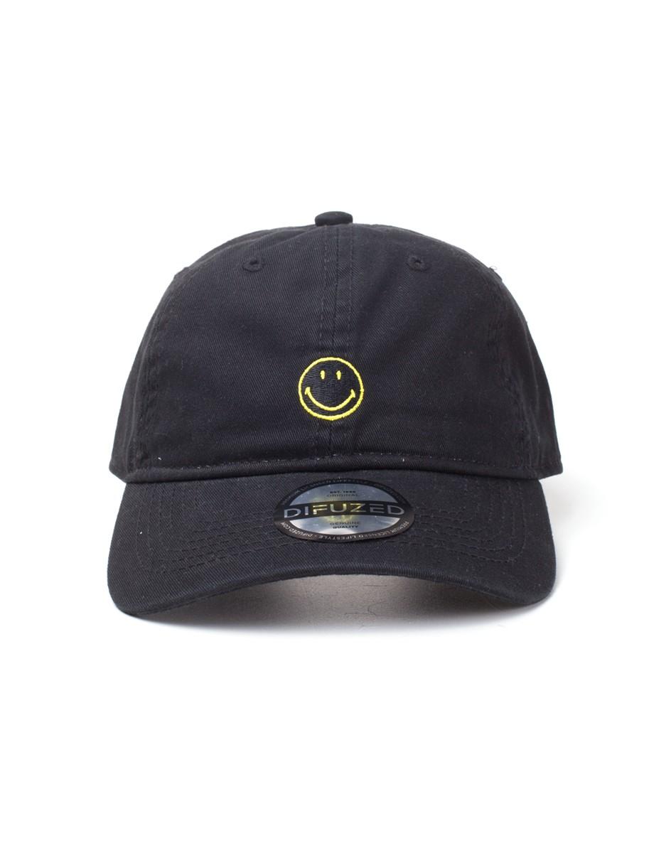 e9f1ca285f7 Official the original smiley face brand black strapback baseball cap dad hat  spike dabomb jpg 944x1200