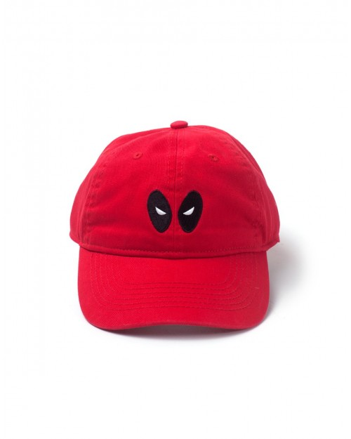OFFICIAL MARVEL COMICS DEADPOOL EYES STRAPBACK BASEBALL CAP 'DAD HAT'
