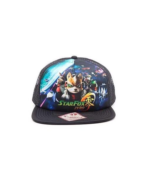 OFFICIAL NINTENDO - STARFOX ZERO PRINT BLACK TRUCKER SNAPBACK CAP
