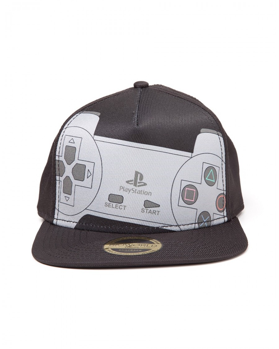 new concept 88b09 e4676 ... wholesale official sony classic playstation controller black snapback  cap c88fe 8feb4