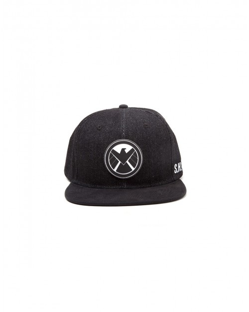 OFFICIAL MARVEL COMICS - SHIELD S.H.I.E.L.D SYMBOL BLACK SNAPBACK CAP