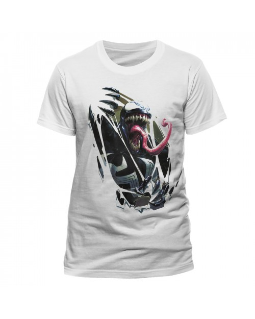 MARVEL COMICS - VENOM CHEST BURST WHITE T-SHIRT