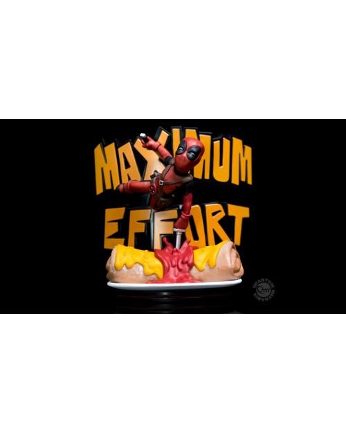 QUANTUM MECHANIX MAX x MARVEL DEADPOOL MAXIMUM EFFORT Q-FIG MINI FIGURE (14 cm)