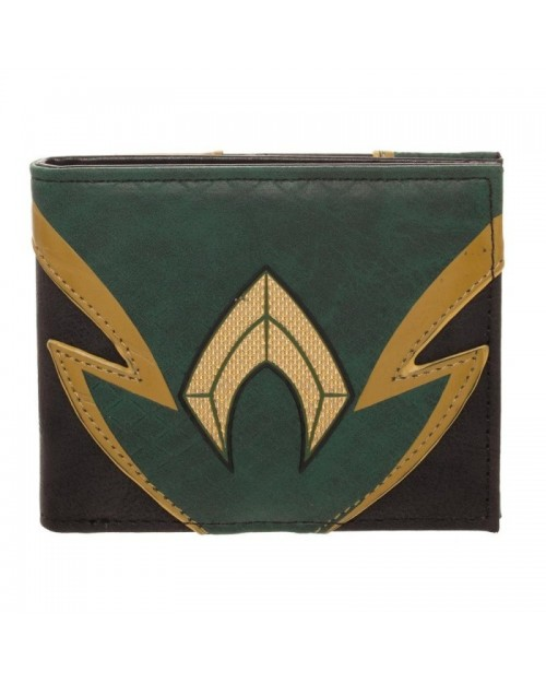 OFFICIAL DC COMICS AQUAMAN SYMBOL SUIT UP BI-FOLD WALLET