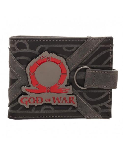 OFFICIAL GOD OF WAR - METAL SYMBOL BI-FOLD WALLET WITH STRAP