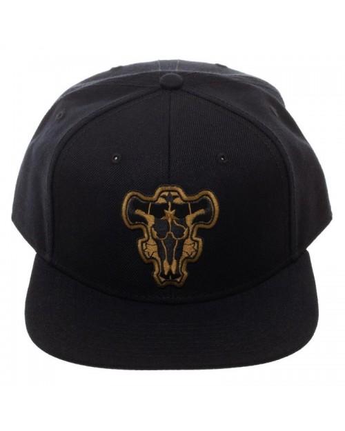 OFFICIAL BLACK CLOVER - BLACK BULL LOGO BLACK SNAPBACK CAP