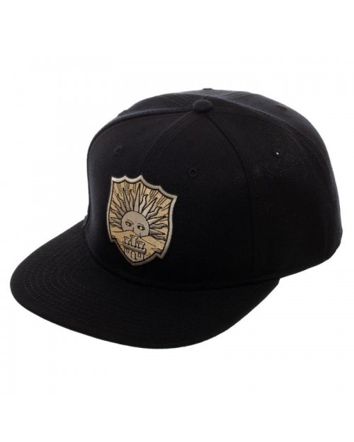 OFFICIAL BLACK CLOVER - GOLDEN DAWN CREST LOGO BLACK SNAPBACK CAP