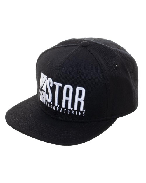 OFFICIAL DC COMICS - THE FLASH STARLABS LOGO BLACK SNAPBACK CAP
