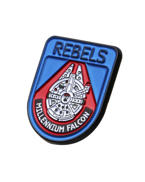 OFFICIAL STAR WARS - REBELS - MILLENNIUM FALCON METAL ENAMEL PIN BADGE
