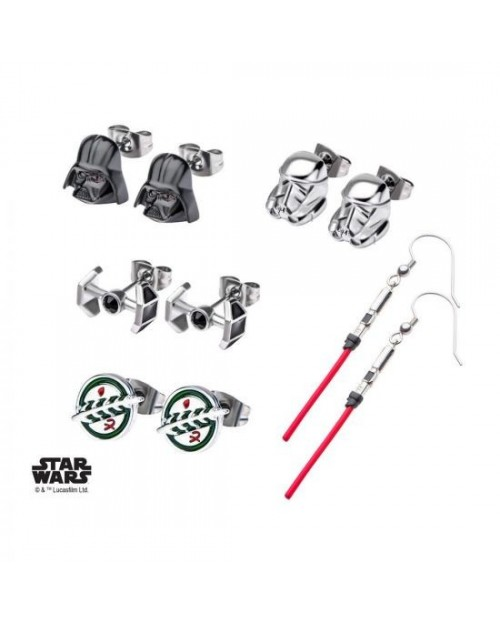 STAR WARS - THE DARK SIDE SET OF 6 PAIRS EARRINGS BOX SET