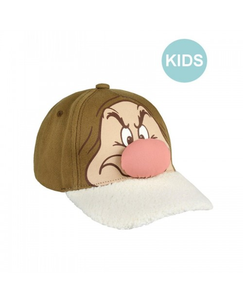 DISNEY - SNOW WHITE AND THE SEVEN DWARFS - GRUMPY HOOK AND LOOP BASEBALL CAP [KIDS]