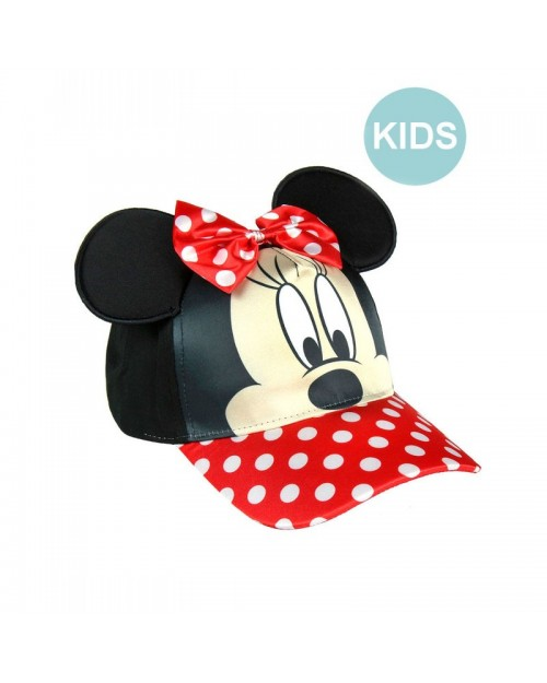 DISNEY - MINNIE MOUSE COSTUME STYLE HOOK AND LOOP BASEBALL CAP [KIDS]