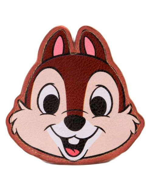 OFFICIAL DISNEY CHIP & DALE - CHIP FACE PRINTED COIN PURSE
