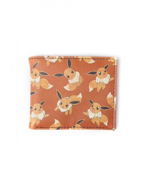 OFFICIAL NINTENDO - POKEMON ALL OVER PRINT EEVEE BI-FOLD WALLET