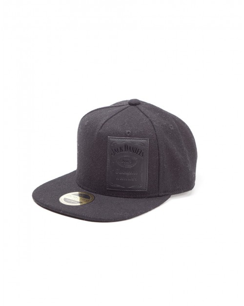 OFFICIAL JACK DANIELS DEBOSSED PATCH WOVEN HOOK AND LOOP BASEBALL CAP