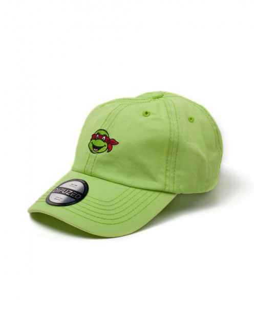 TEENAGE MUTANT NINJA TURTLES RAPHAEL GREEN STRAPBACK BASEBALL CAP 'DAD HAT'