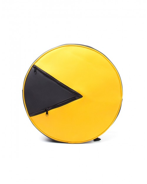 OFFICIAL PAC-MAN SHAPES ROUND LARGE BACKPACK BAG
