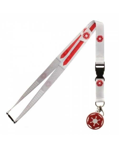 STAR WARS - GALACTIC EMPIRE SYMBOL WHITE LANYARD