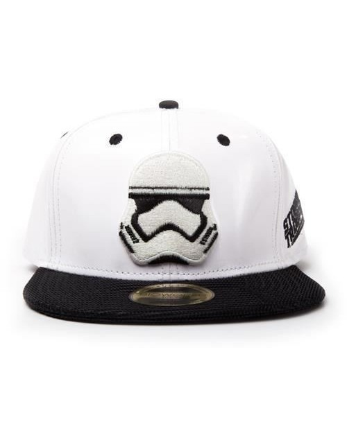 OFFICIAL STORMTROOPER MASK WHITE PUT SNAPBACK CAP