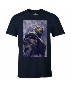 OFFICIAL MARVEL COMICS - AVENGERS: ENDGAME - THANOS PRINT NAVY BLUE T-SHIRT